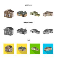 Design of facade and housing logo vector