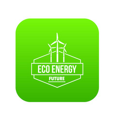 Eco energy icon green vector