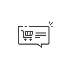 ecommerce notification concept symbol line vector image