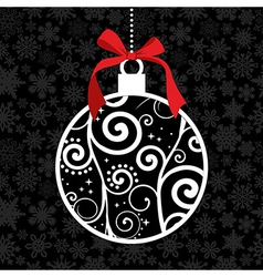 Elegant Christmas hang bauble vector