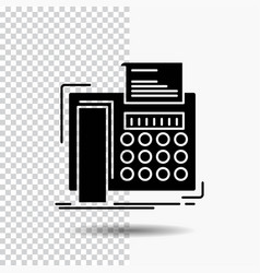 Fax message telephone telefax communication glyph vector