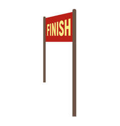 Finish banner icon flat style vector