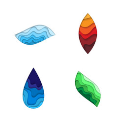 four nature elements vector image