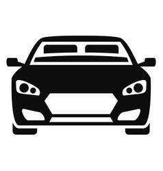 Front modern car icon simple style vector