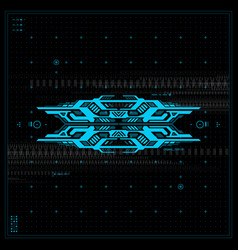 futuristic graphic user interface vector image