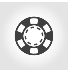 Grey casino poker chips icon vector