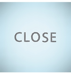 Hand clicking close symbol icon Concept EPS10 vector