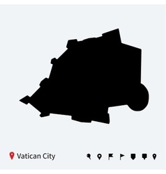 High detailed map of Vatican City with navigation vector