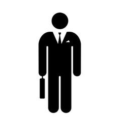 icon man businessman vector image