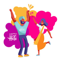 indians couple celebrating vector image