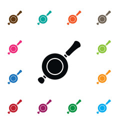 Isolated non-stick icon skillet element vector