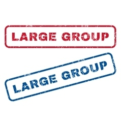 Large Group Rubber Stamps vector
