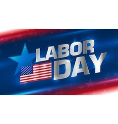 Lettering labor day on background vector