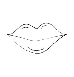 lips of woman makeup lipstick cartoon vector image