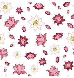lovely lotus flowers in various stages open vector image