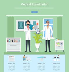 Medical examination service vector