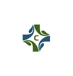 medical herbal initial c vector image