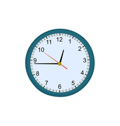 modern clock office tool vector image