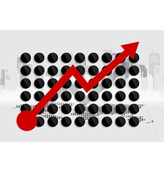 Modern design graph business graph to success can vector