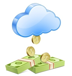 Money from the sky vector