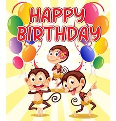 Monkey birthday vector