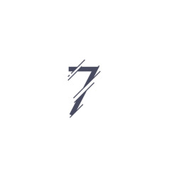 number 7 template design vector image