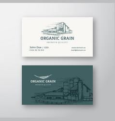 organic grain farm landscape abstract vintage vector image