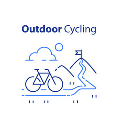 outdoor cycling concept riding bicycle trip vector image