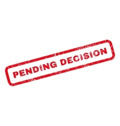Pending Decision Rubber Stamp vector image