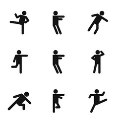Physical activity icons set simple style vector