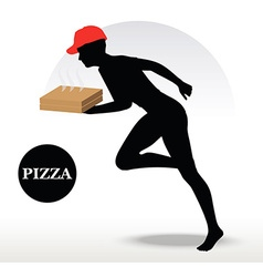 Pizza Delivery Person in rush vector