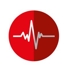 Pulse heart cardiology icon vector