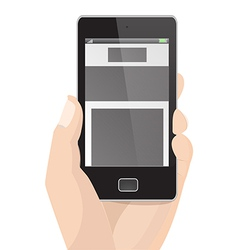 Responsive layout vertical display mobile phone vector