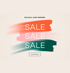 sale banner template big sale online shopping vector image
