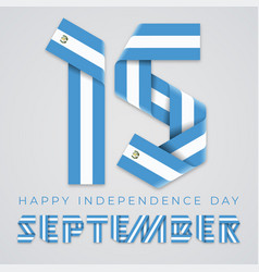 september 15 guatemala independence day vector image