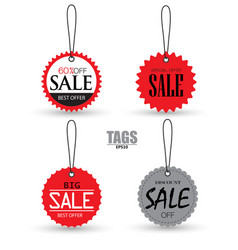 set of sale tags with labels special offer for vector image