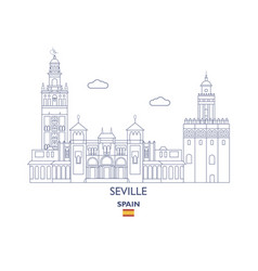 Seville city skyline vector