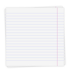 Sheet paper in a line vector