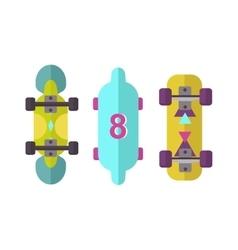Skateboard board isolated vector