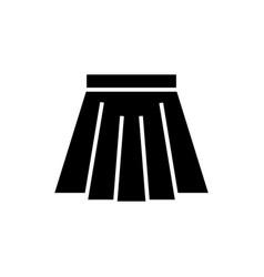 skirt short icon black sign vector image
