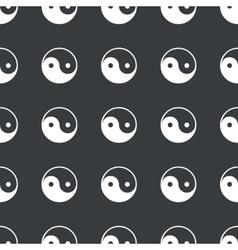 Straight black ying yang pattern vector