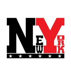 T shirt typography stars New York vector image
