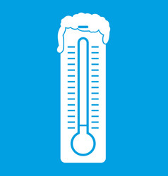 thermometer icon white vector image