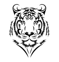 tiger logo black white a tiger vector image