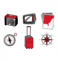 touristic icons vector image