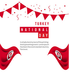 Turkey national day template design vector