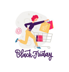 young girl running for sale big discounts in vector image