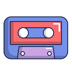 cassete tape icon cartoon style vector image