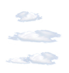 Clouds isolated on white background vector