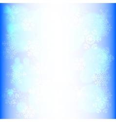 snowflakes and bokeh vector image vector image